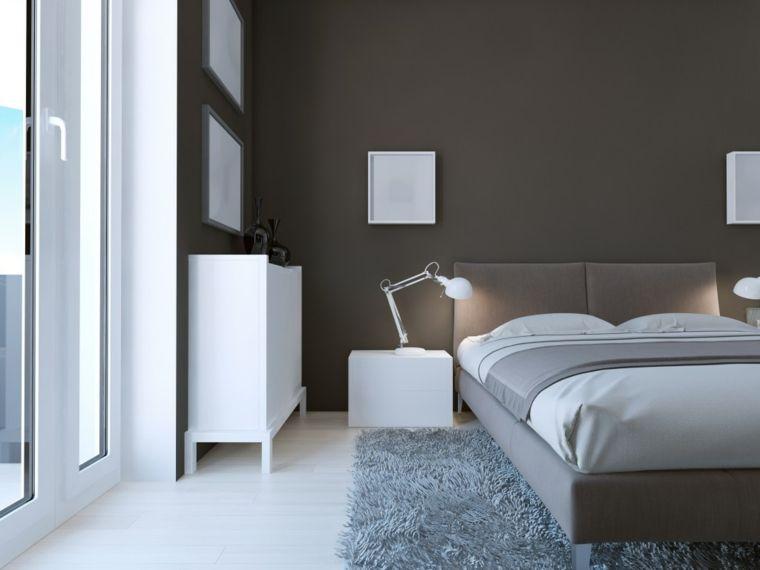 Ampia E Luminosa Camera Da Letto Con Struttura Letto E Pareti Tortora E Pavimento Chiaro Idee Di Interior Design Arredamento Design Luminoso