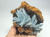 BARITE ON LIMONITE FROM JEBEL OUICHANE, NADAR, MOROCCO