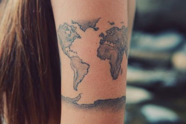 Creative map tattoos for the traveling type map tattoos tattoo creative map tattoos for the traveling type gumiabroncs Images