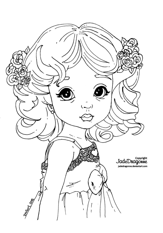 Little Woman By Jadedragonne On Deviantart Cute Coloring Pages Fairy Coloring Pages Coloring Pages For Girls