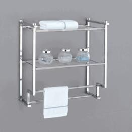 Organize It All Metro 2 Tier Wall Mounting Rack With Towel Bars By Organize It All Http Www Amazon C With Images Bathroom Wall Shelves Over Toilet Storage Bathroom Rack