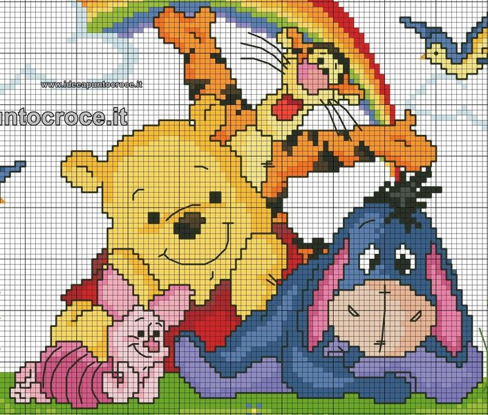 schemi winnie the pooh idee a punto croce bambini pinterest cross stitch stitch and