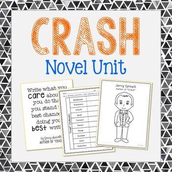 Crash Novel Novel Unit Study Activities, Book Companion Worksheets ...