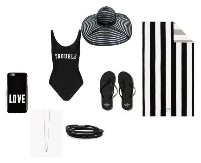 """Back and white beach day"" by swagvanessa on Polyvore featuring ADRIANA DEGREAS, Abercrombie & Fitch, Pottery Barn, Givenchy and BillyTheTree"
