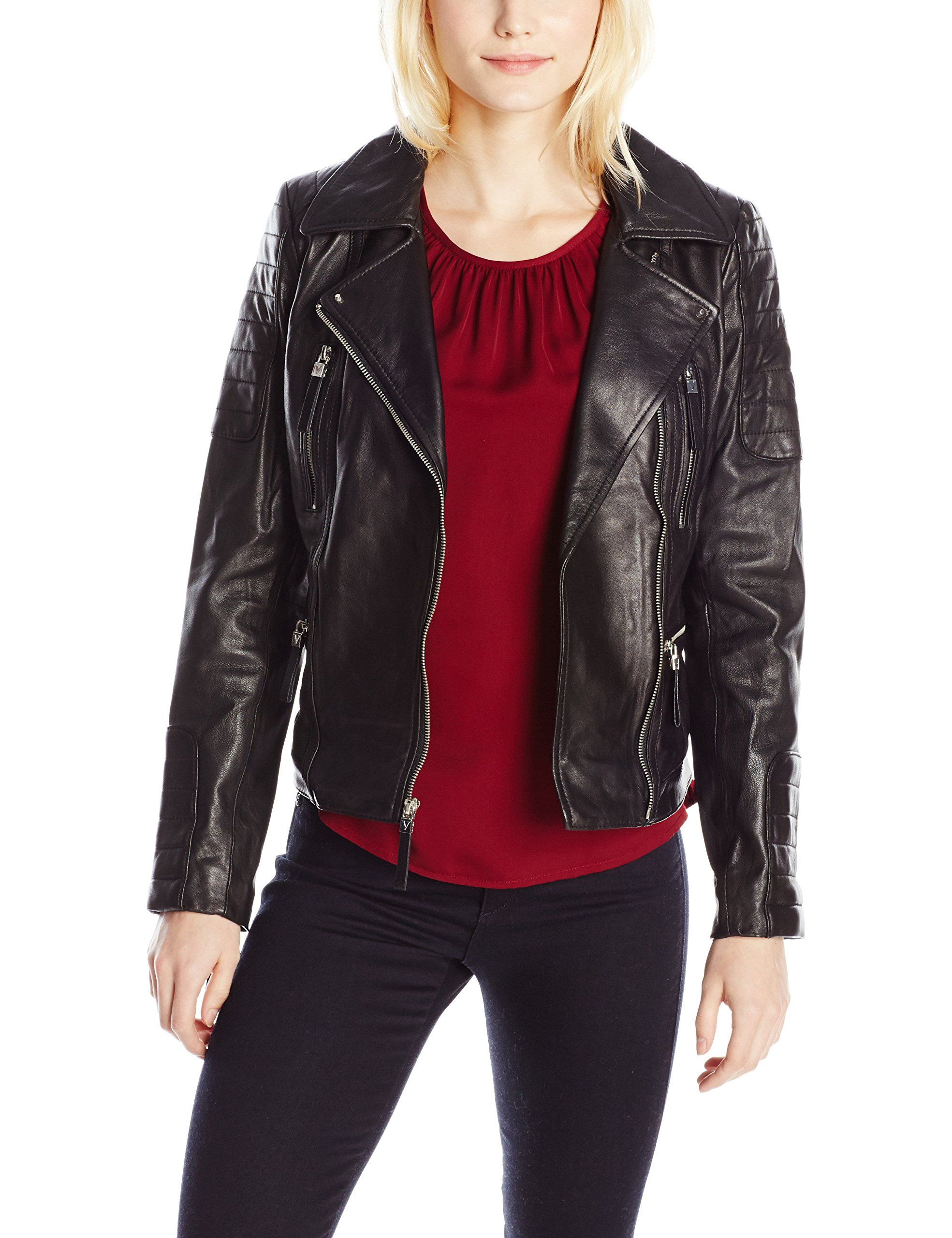 Vince Camuto Womens Leather Moto Jacket Black Medium You Can Find More Details By Visiting T Coats For Women Leather Moto Jacket Womens Leather Moto Jacket [ 2560 x 1969 Pixel ]