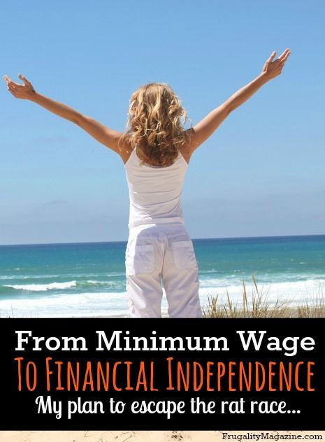How To Reach Financial Independence On Minimum Wage  Rat Race