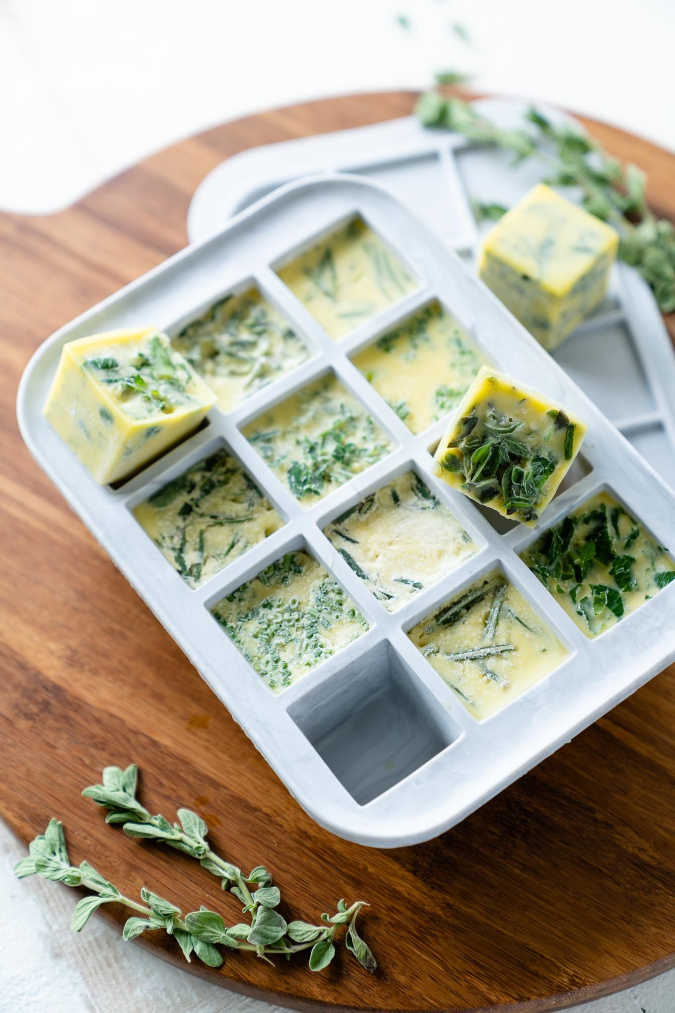 Herb bombs how to freeze fresh herbs in olive oil
