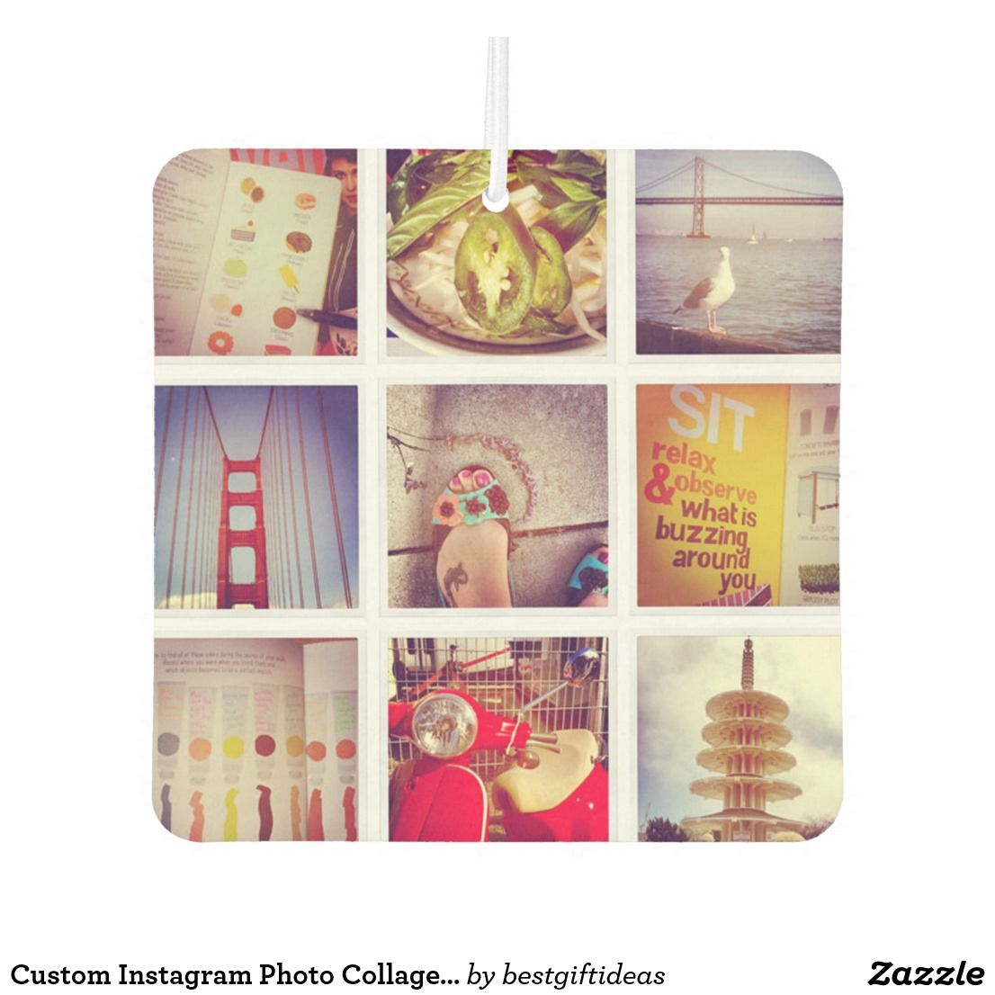Custom Instagram Photo Collage Car Air Freshener Zazzle