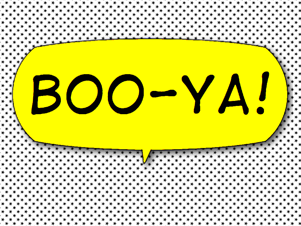 iPhone Comic Bubble Stickers for iMessage. 'BooYa!' D