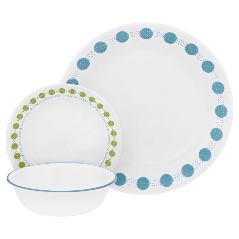 Livingware 18 Piece Dinnerware Set Service For 6 White