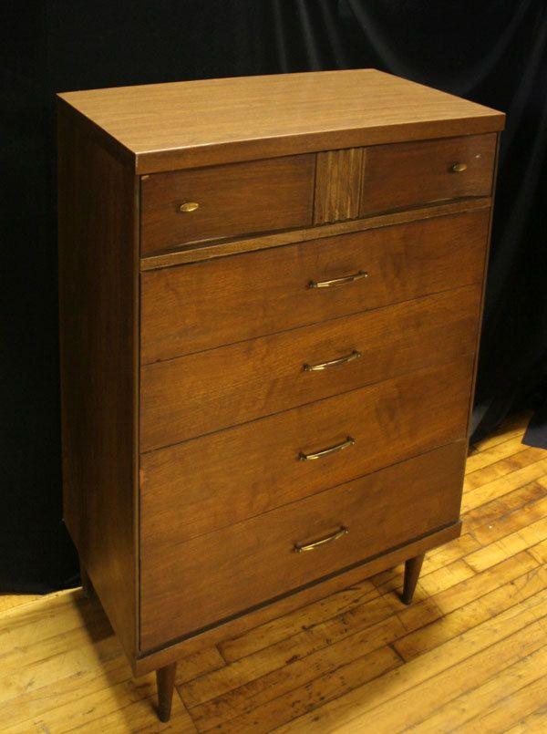 Vintage Mid Century Bassett Furniture Co High Dresser Bassett