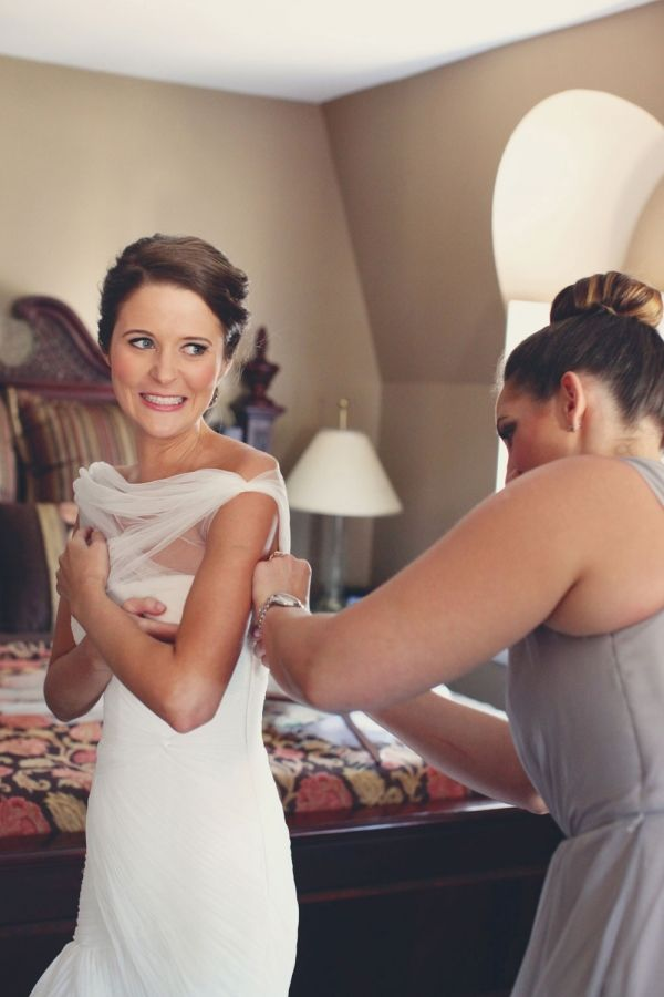 Bride Getting Dressed Before Ceremony Photography By Http Amycampbellphotography Get
