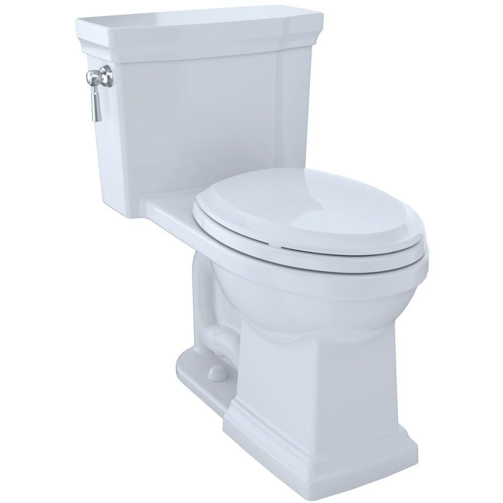 Promenade Ii 1 Piece 1 0 Gpf Single Flush Elongated Toilet With Cefiontect In Cotton White One Piece Toilets Toto Toto Toilet