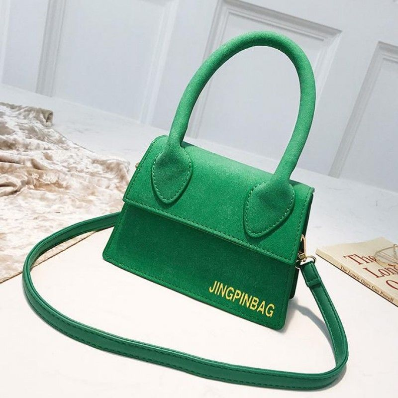 3345cee448ba Green Square Mini Crossbody bag Flap Cute Purse with Handle ...