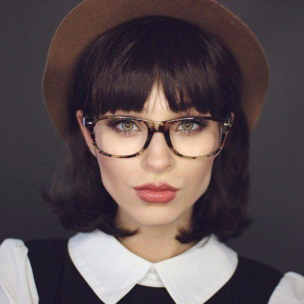 Top 30 Hairstyles With Bangs And Glasses The Perfect Combination Page 22 Hairst Diamond Face Shape Hairstyles Face Shape Hairstyles Diamond Face Hairstyle
