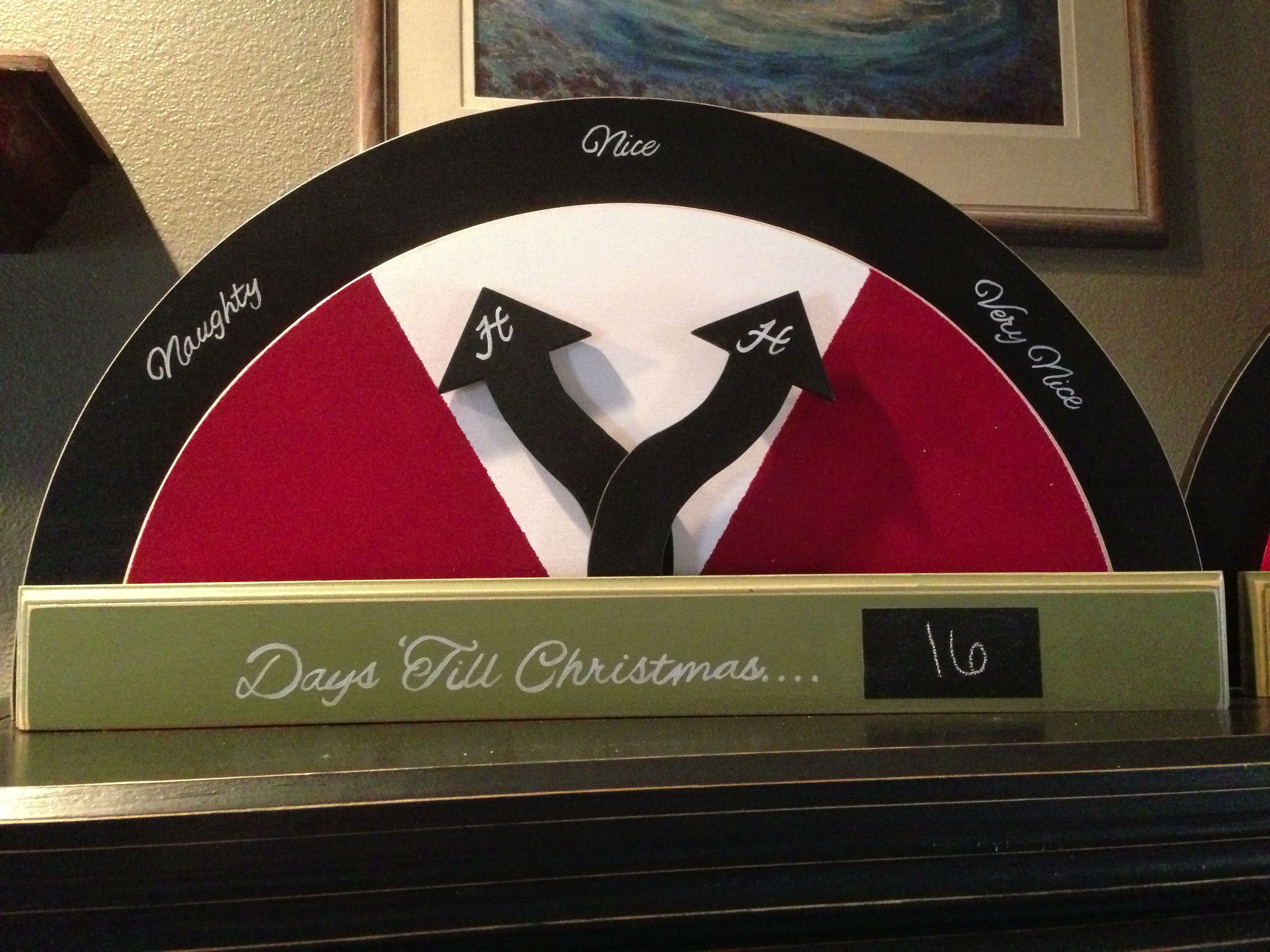 Naughty Amp Nice Barometer For Christmas Unique Alternative