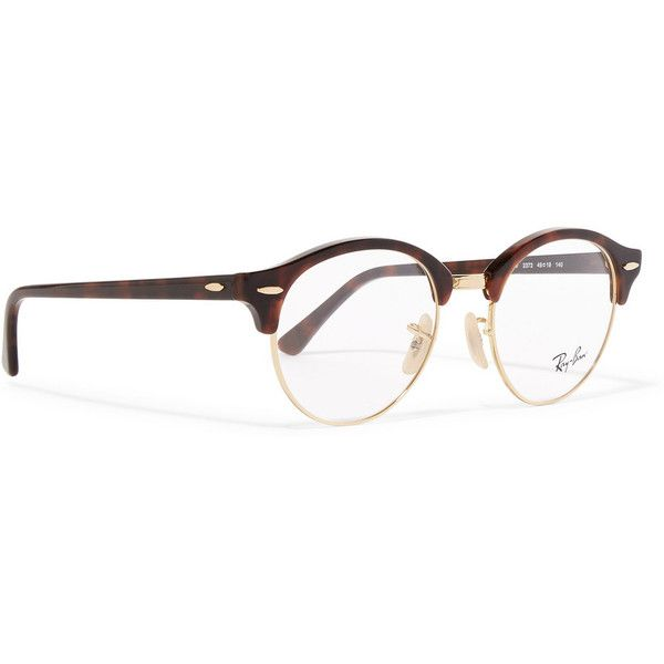 0672525920 Ray-Ban Round-frame acetate and metal optical glasses ( 170) ❤ liked on  Polyvore featuring accessories