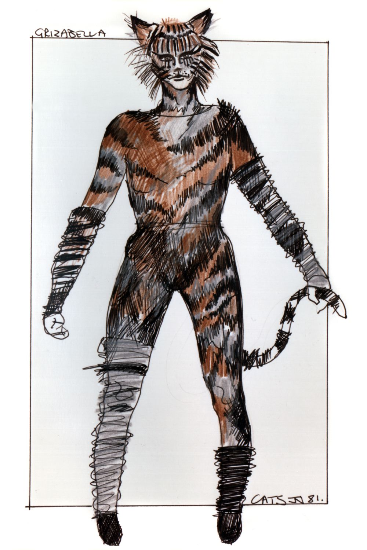 """Babygriz"" original costume design, John Napier 1981"