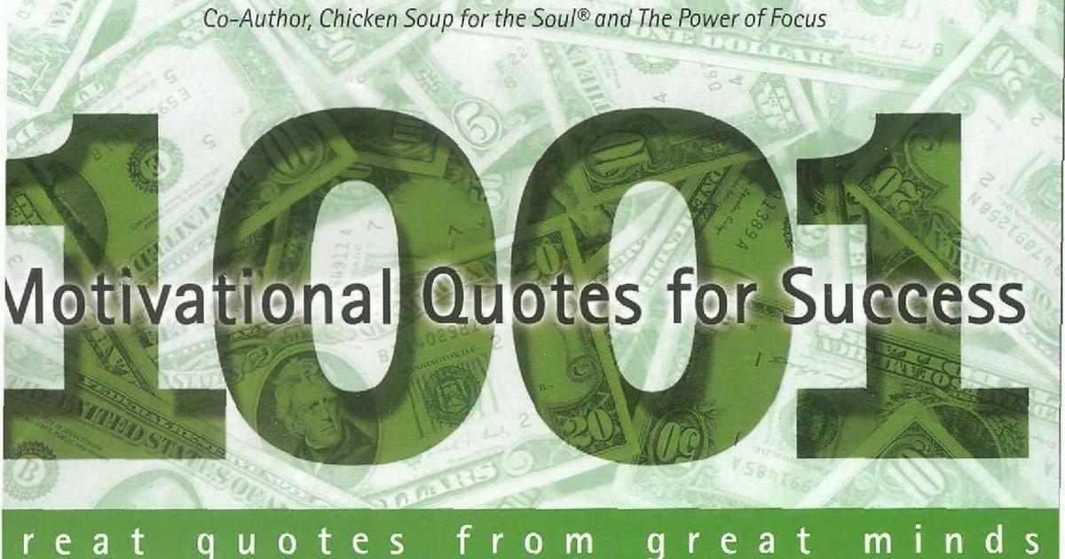 1001 Motivationsl Quotes For Success Thomas J Vilordpdf Free