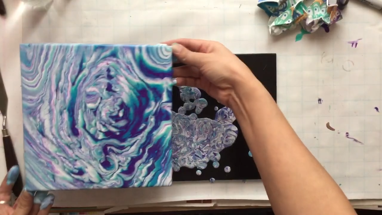 Opal Hurricane Opal Hurricane Is An Acrylic Art Pour Pouring Paint Over Tiles Bonus Footage Destr In 2020 Acrylic Pouring Art Pouring Painting Alcohol Ink Crafts