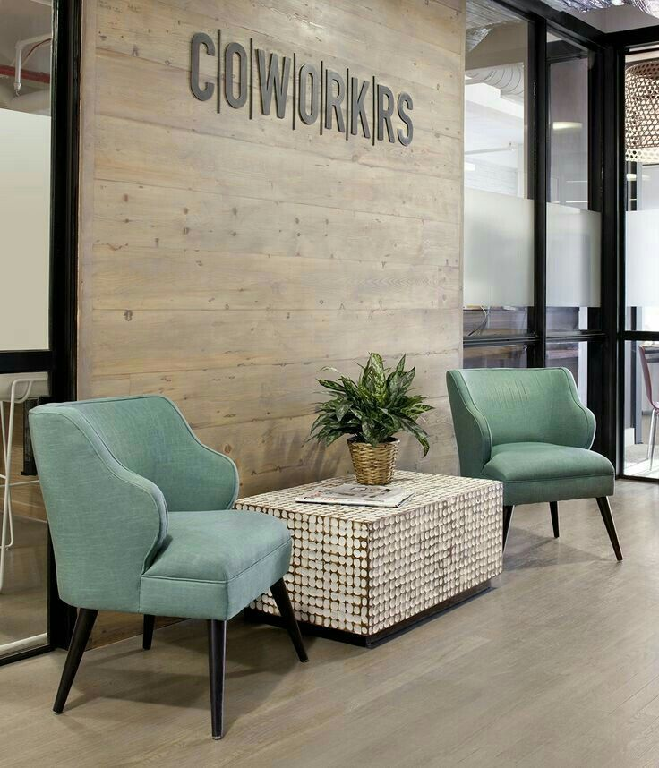 Pin By Ahirsch On Potential Ideas Office Reception Area Modern Office Design Cozy Office