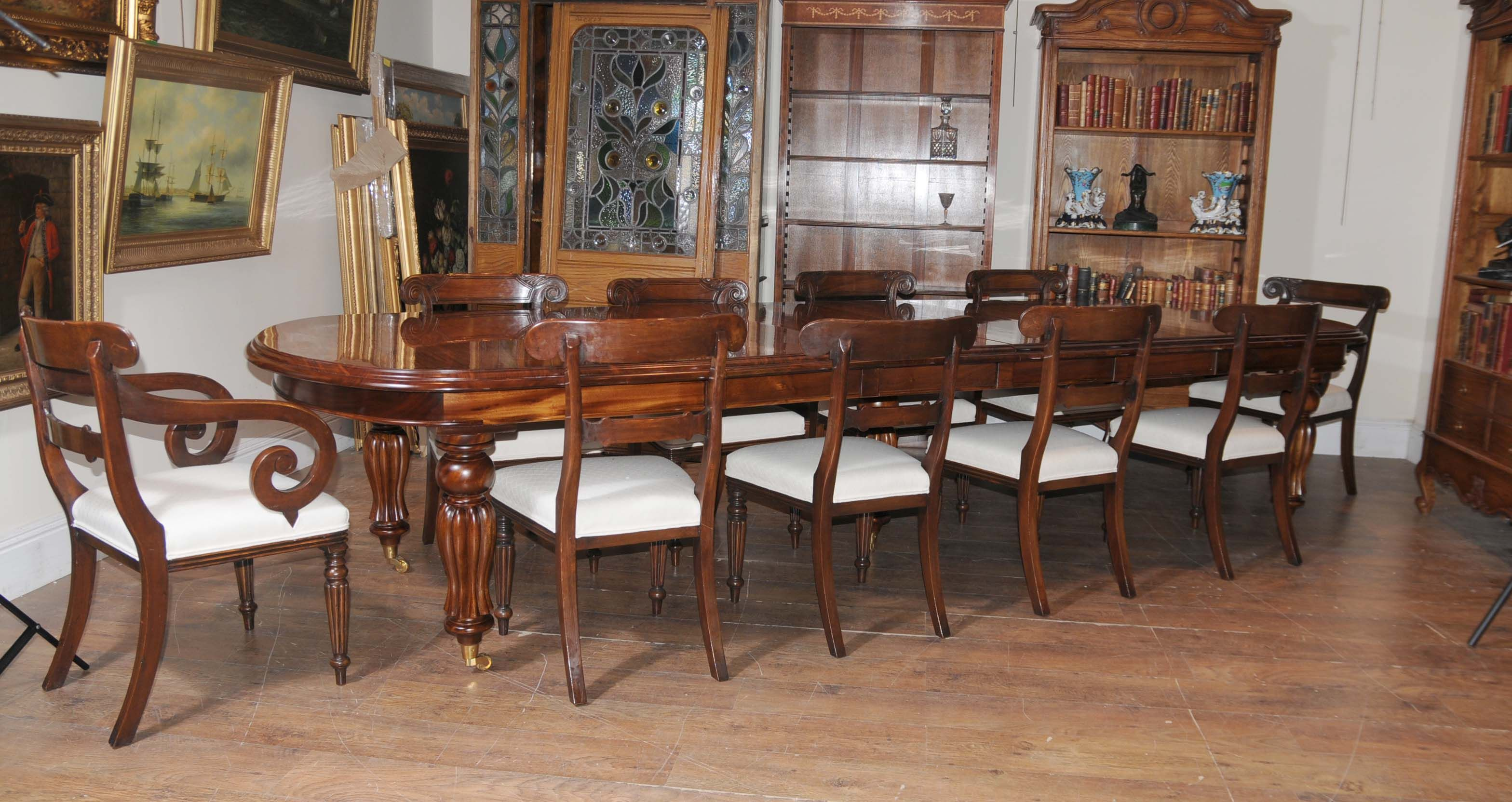Victorian Table Set William IV Chairs   Vast Array Of Victorian Dining Sets  In Our Canonbury