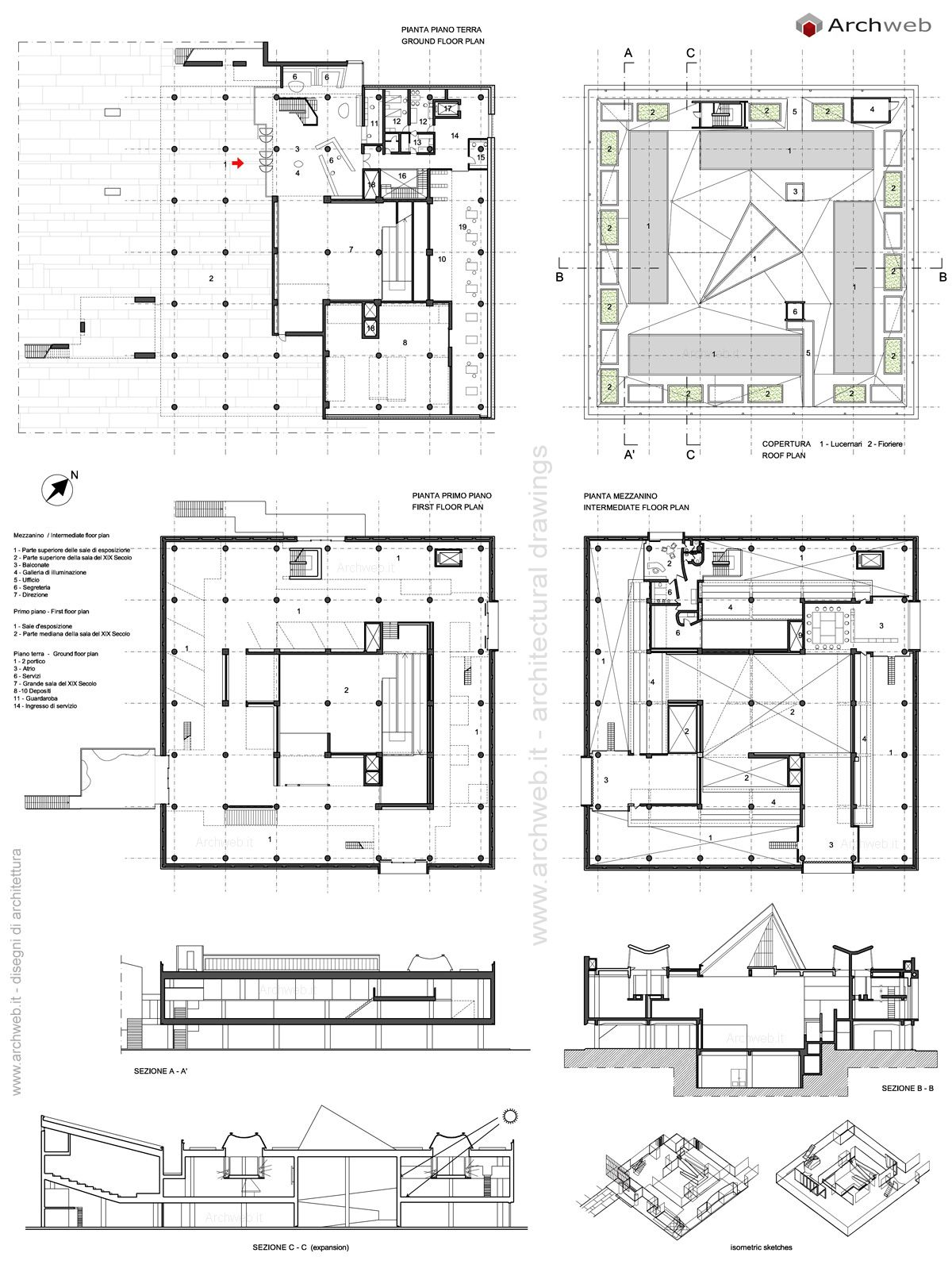National Museum Of Western Art Tokyo Drawings Plans Museum Plan Museum Exhibition Design Museum Architecture