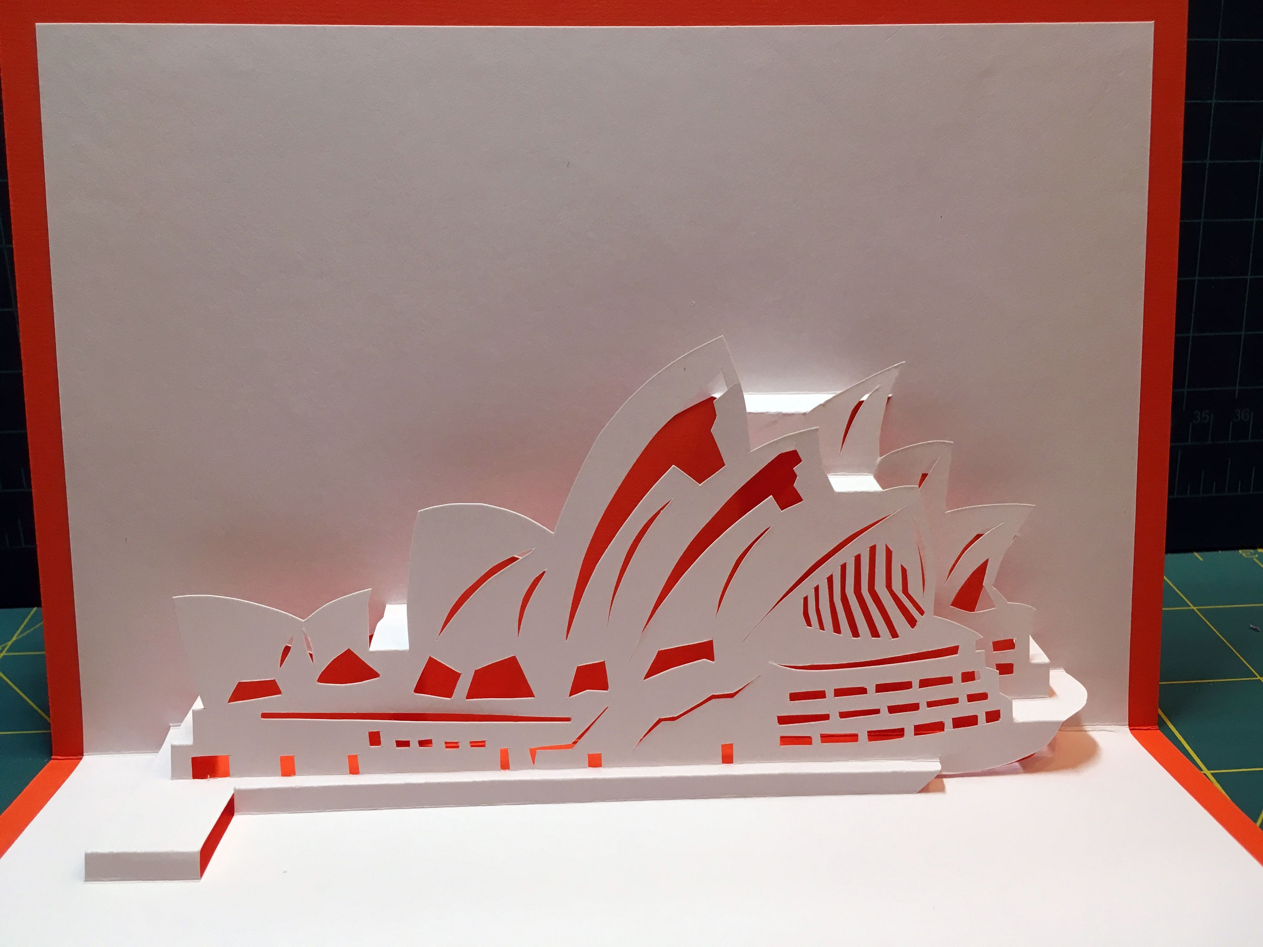 Sydney Opera House Pop Up Card Template From The Paper Architect Fold It Yourself Buildings And Structures Pop Up Card Templates Pop Up Book Cards Handmade