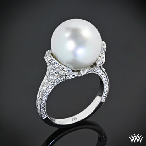 Hello Darling Beautiful Pearl And Diamond Ring
