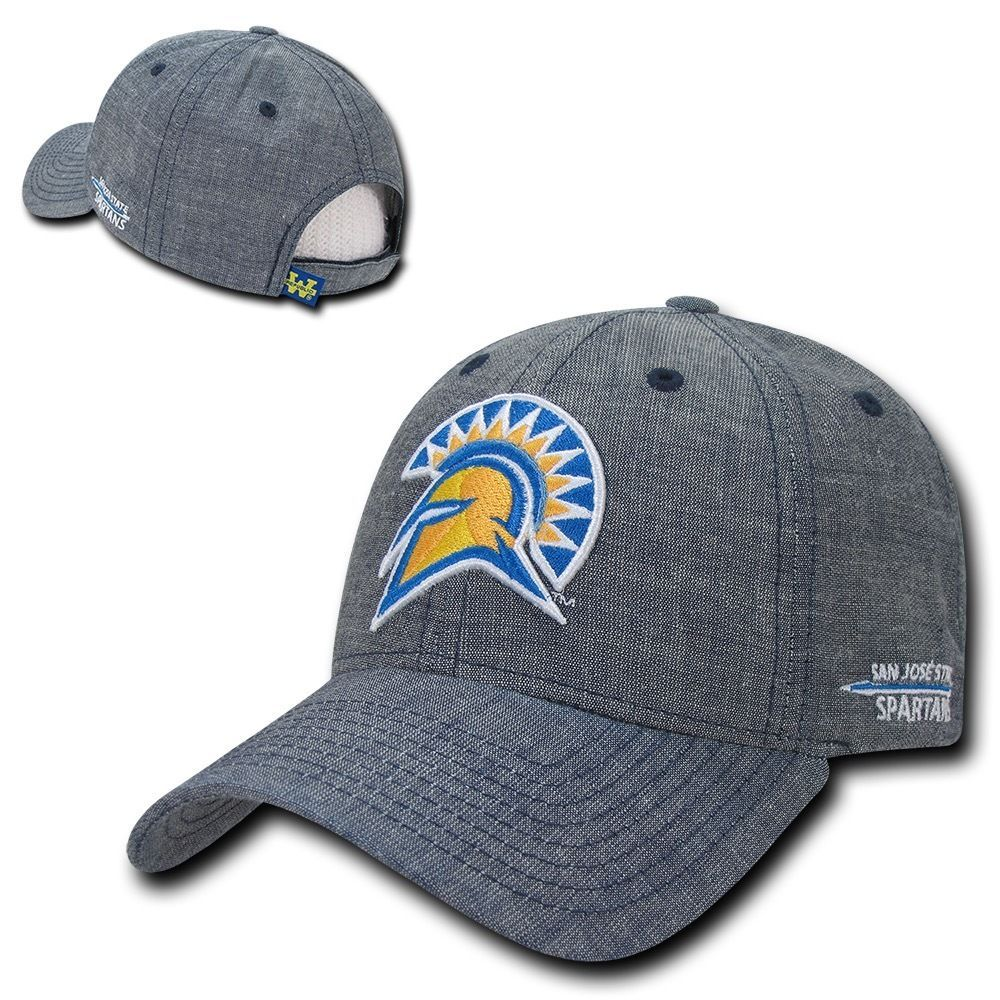 8d954ef8b34 Ncaa Sjsu San Jose State University Spartans Structured Denim Baseball Caps  Hats
