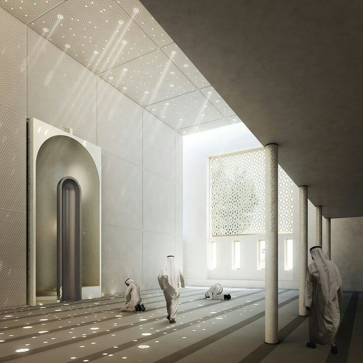 Sunlit prayer hall islamic architecture pinterest for Mosque exterior design