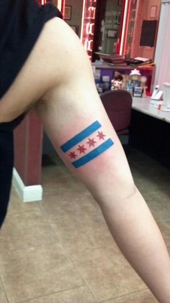 Chicago Flag Tattoo Chicago Flag Tattoo Flag Tattoo Chicago Flag