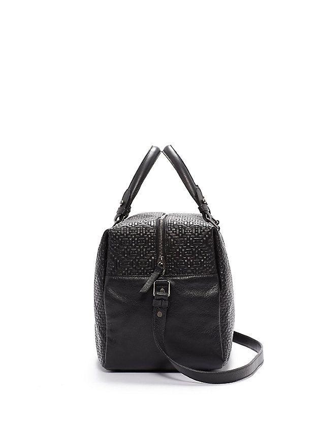 Soft Duffel Bag in Diamond Weave Italian Leather