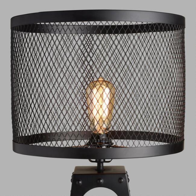 Riveted Table Lamp Shade v1   Metal lamp shade, Table lamp
