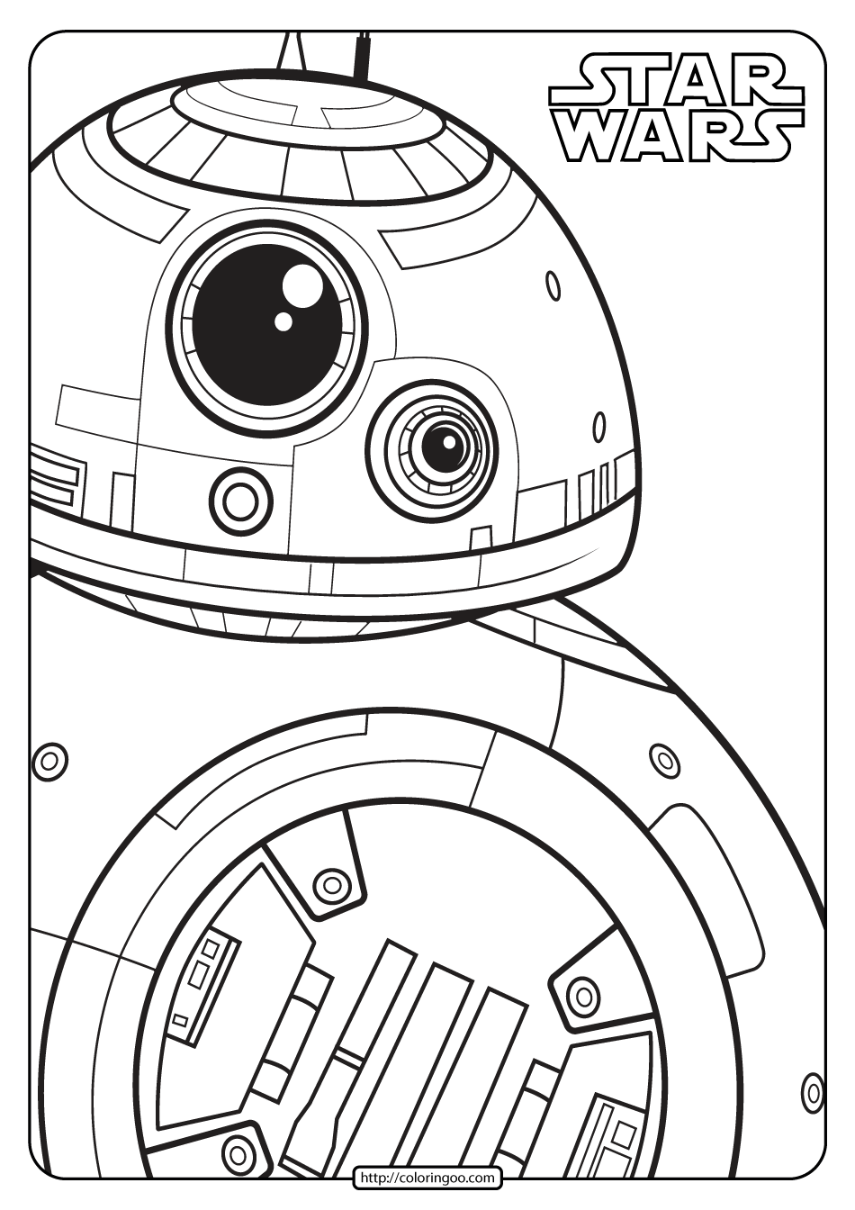 Printable Star Wars Bb 8 Coloring Pages Star Wars Coloring Book Printable Star Star Wars Drawings