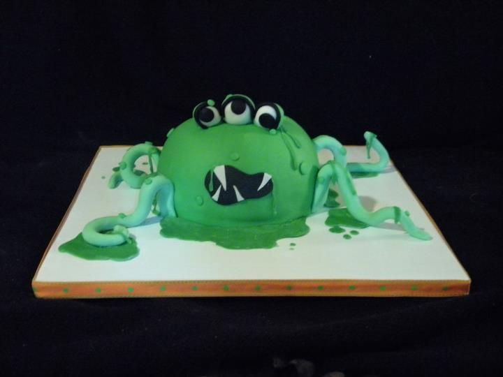 Faithy Cakes - Googly slime monster birthday cake