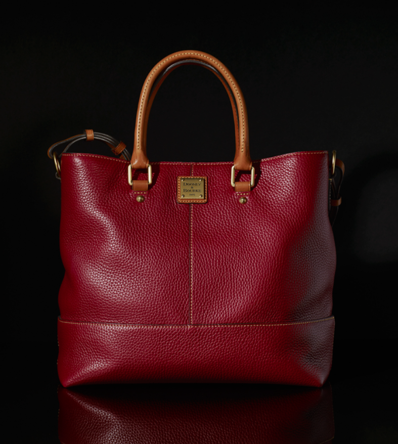 Get carried away - with red! Chelsea shopper, from Dooney & Bourke