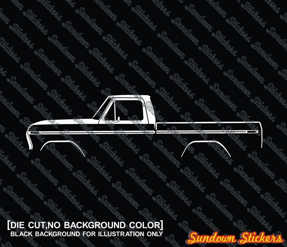2x Car Silhouette Stickers For Ford F100 X2f F150 1973 1979 Classic Pickup Truck Ebay Motors Repuestos Y Accesorios Repuestos Hatchback Autos Camiones