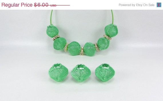 20% Off 12 Green Diamond Mesh Beads 18mm  for Basketball Wives Earrings by texasfindingsnmore on Etsy https://www.etsy.com/listing/97883390/20-off-12-green-diamond-mesh-beads-18mm