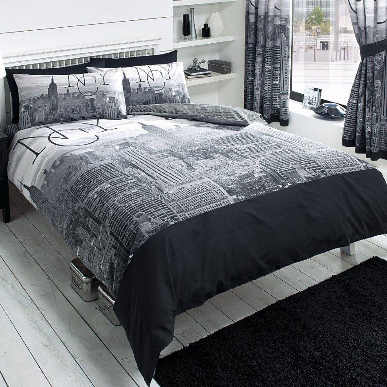 Total Fab New York City Skyline Bedding NYC Themed Bedroom