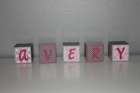 Simply Made...with Love: DIY Baby Name Blocks