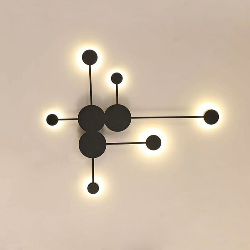 Modern Creative Led Wall Lamp White Black Gold Iron Decoration Wall Lights For Living Room Bedroom Bed Wall Lamps Bedroom Wall Lights Living Room Led Wall Lamp