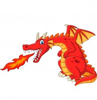 Cartoon Red Dragon Spitting Fire Red Dragon Dragon Illustration Cute Dragons