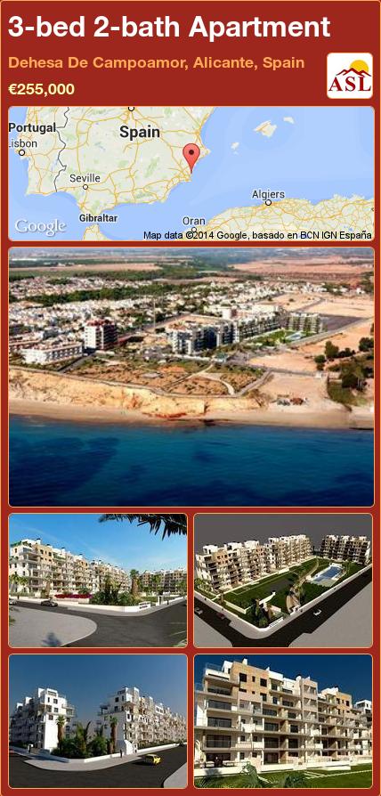 3-bed 2-bath Apartment in Dehesa De Campoamor, Alicante, Spain ►€255,000 #PropertyForSaleInSpain