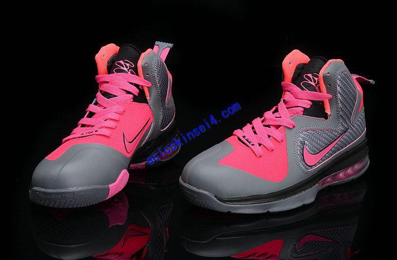 buy online 0c1ef 34d6e Lebron 9 Womens High Tops Carbon Grey Cherry Pink Ke