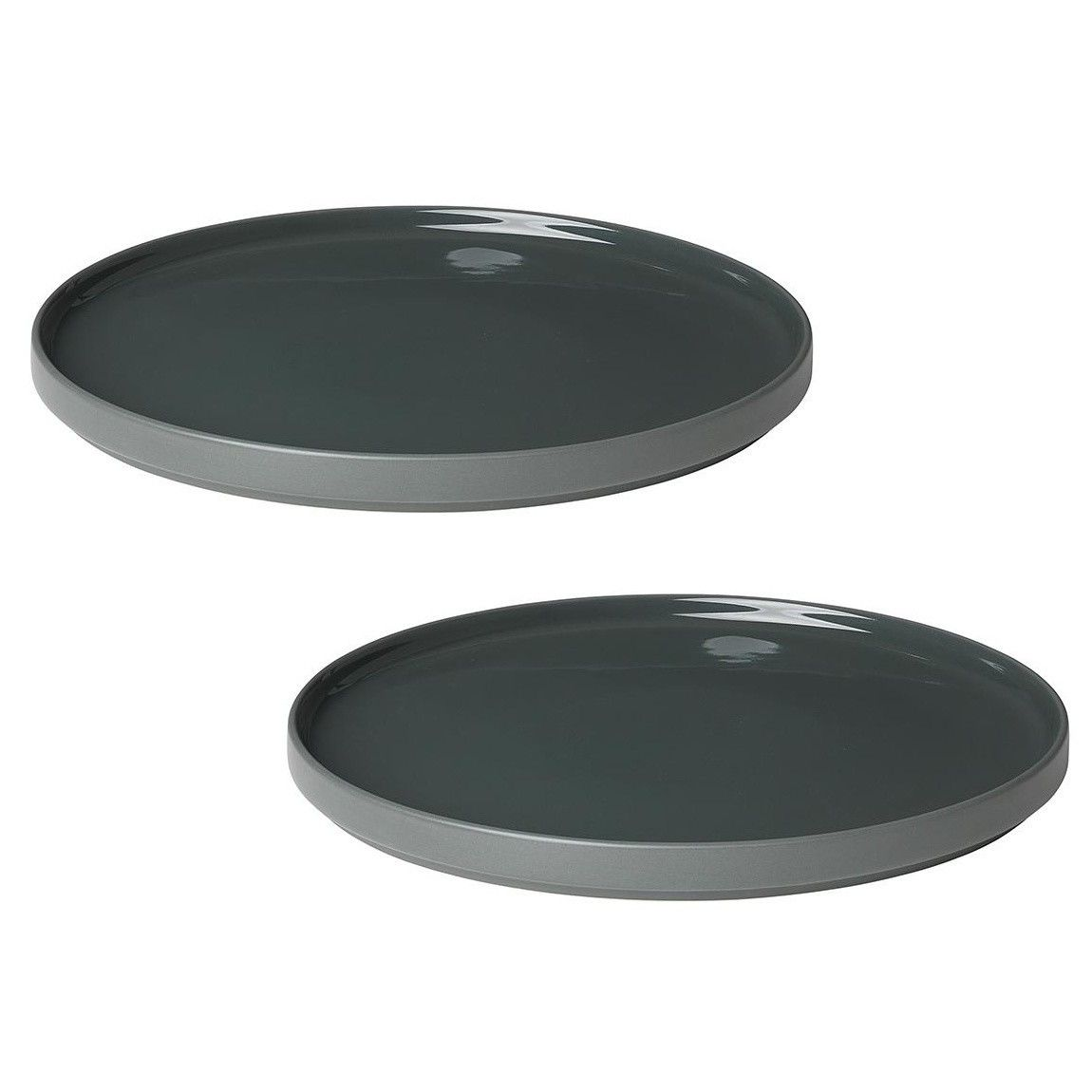 Blomus Set of 2 dinner plates MIO agave green - Trouva