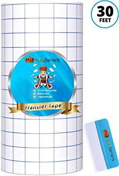 Transfer Tape: 30 feet of medium take clear vinyl - 12 inch by 30 feet rolls with 1 inch alignment grid. Crystal clear vinyl perfect for aligning your craft vinyl with no clowdy or hazy transfer.  #crafts #adhesivevinyl #vinyldecals #cricut #cricutvinyl #printablevinyl #printablevinyl #adhesivevinyl #cricutvinyl #cricutcrafts #decalsticker #craftingideas #craftingtime #diycrafts #stickerslap #stickershop #stickersale #stickerswap #papercraft #papercrafting