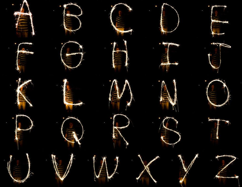 Environmental Font: Sparklers by geoffmyers