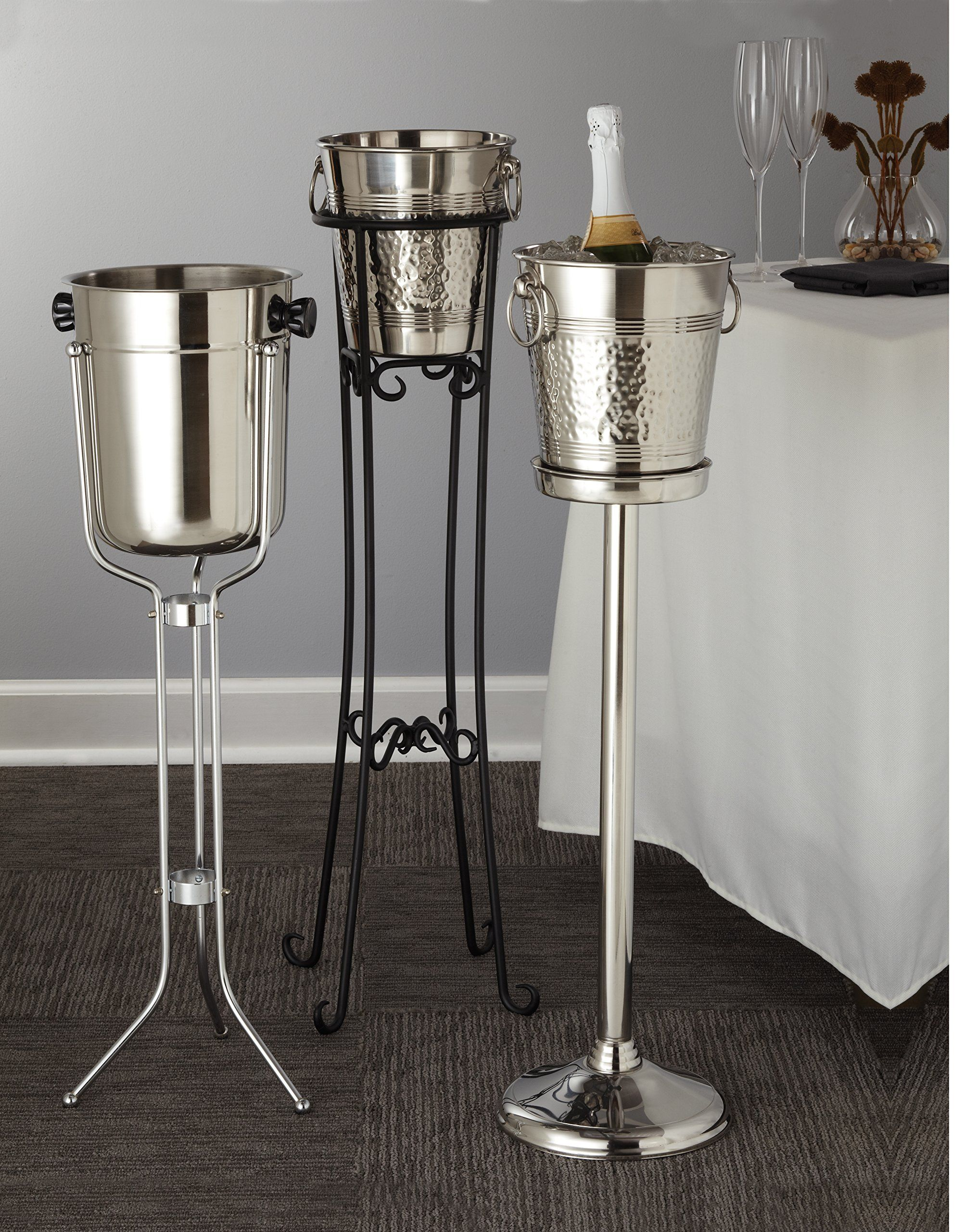 American Metalcraft Wbs24 Metal Wine Bucket Stand Mirror Finish Stainless Steel 24inches Read More A American Metalcraft Champagne Buckets Wine Bucket Stand