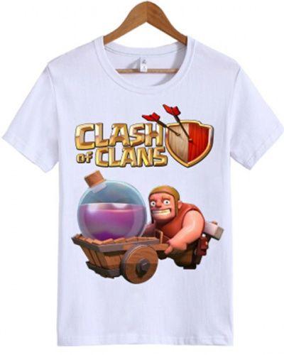 Clash of Clans t shirt for men white COC maintenance break